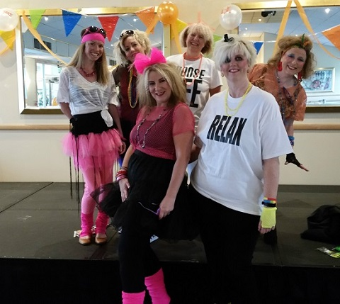 Swiis Leeds staff enjoying the 80s party